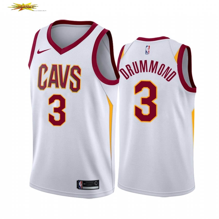 Maillot NBA Nike Cleveland Cavaliers NO.3 Andre Drummond Blanc Association 2019-20