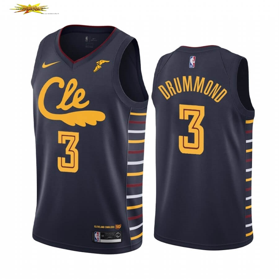 Maillot NBA Nike Cleveland Cavaliers NO.3 Andre Drummond Marine Ville 2019-20
