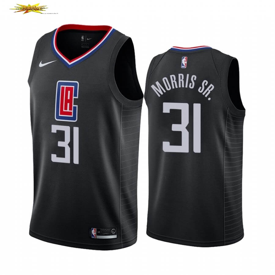 Maillot NBA Nike Los Angeles Clippers NO.31 Marcus Morris Sr. Noir Statement 2019-20