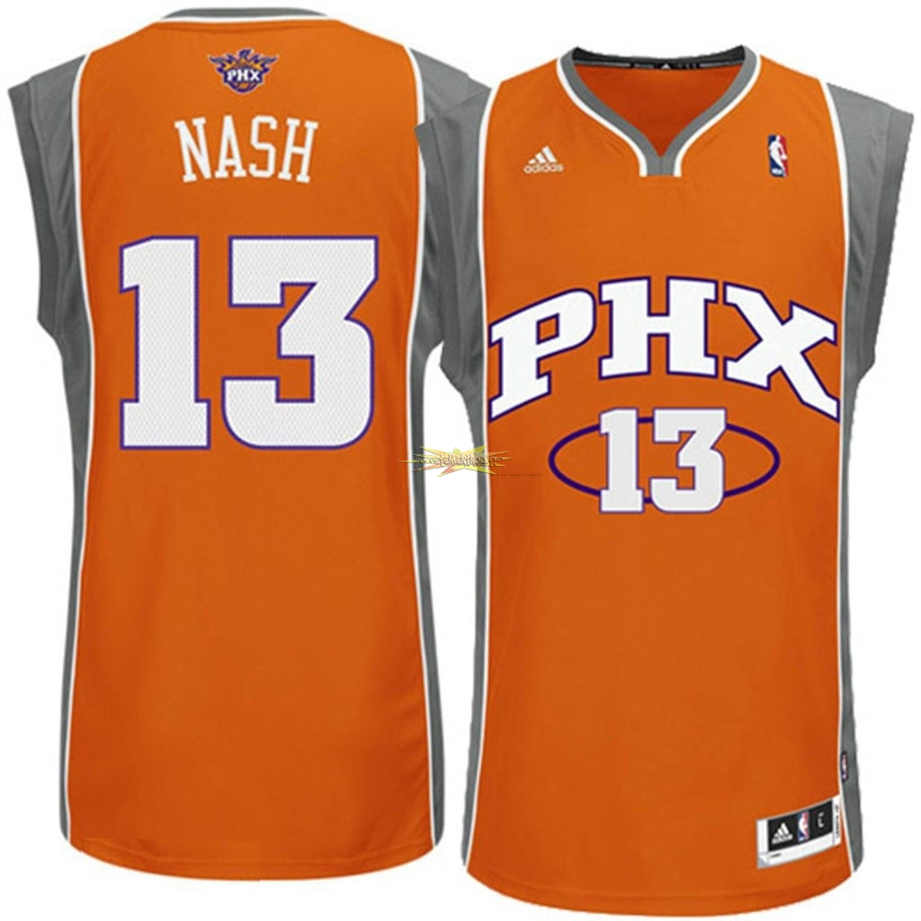 Nouveau Maillot NBA Phoenix Suns NO.13 Steve Nash Orange