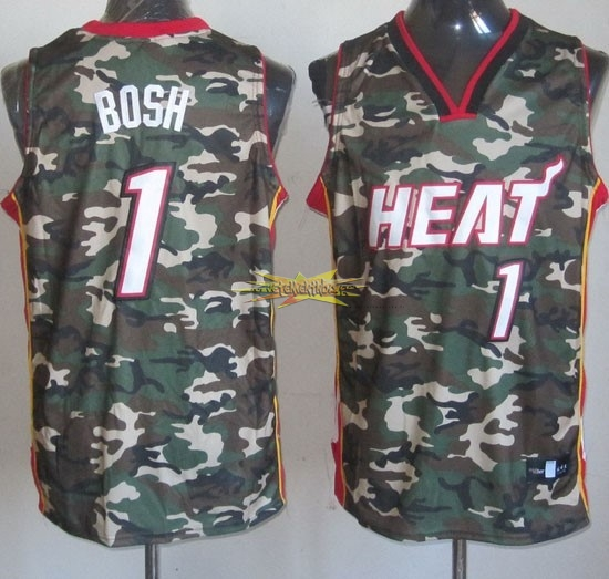 Nouveau Maillot NBA 2013 Camouflage Fashion NO.1 Bosh