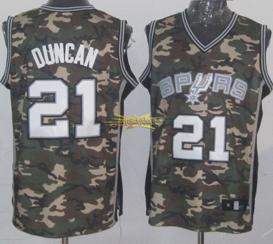 Nouveau Maillot NBA 2013 Camouflage Fashion NO.21 Duncan