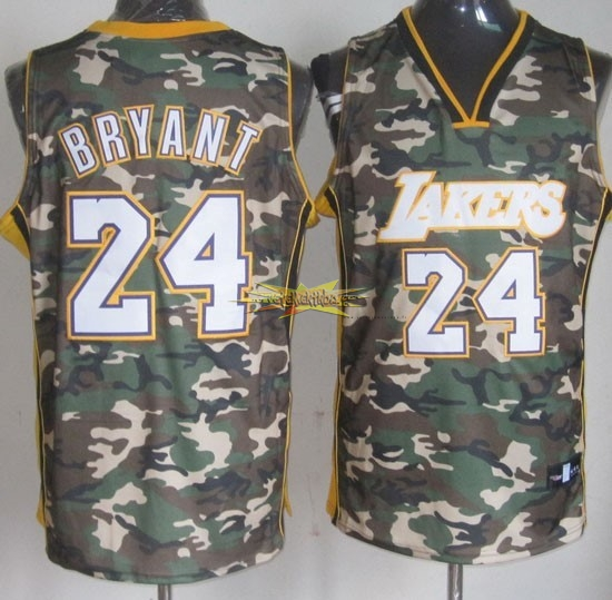Nouveau Maillot NBA 2013 Camouflage Fashion NO.24 Bryant