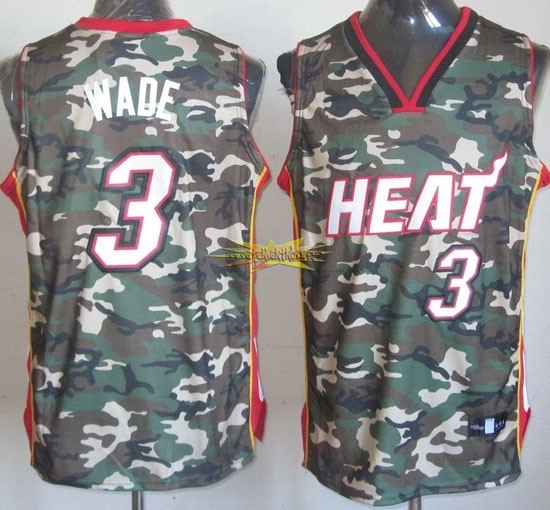Nouveau Maillot NBA 2013 Camouflage Fashion NO.3 Wade