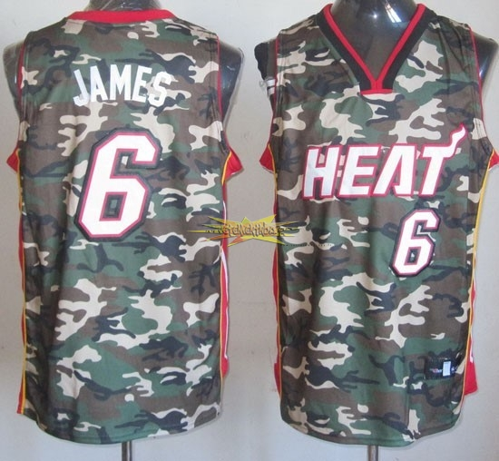 Nouveau Maillot NBA 2013 Camouflage Fashion NO.6 James