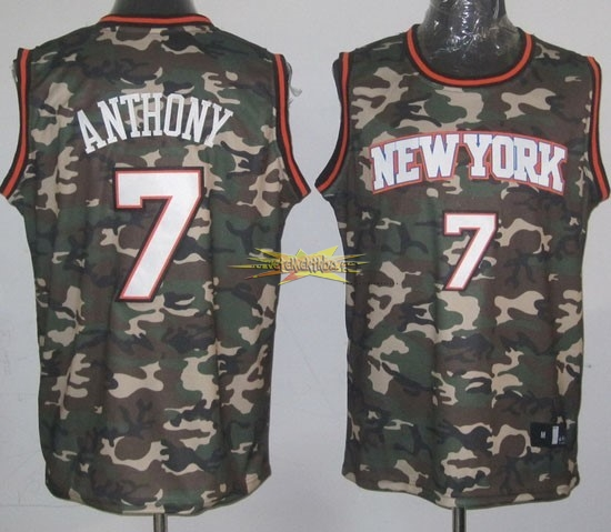 Nouveau Maillot NBA 2013 Camouflage Fashion NO.7 Anthony