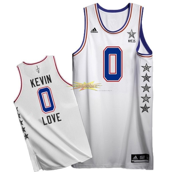 Nouveau Maillot NBA 2015 All Star NO.0 Kevin Love Blanc