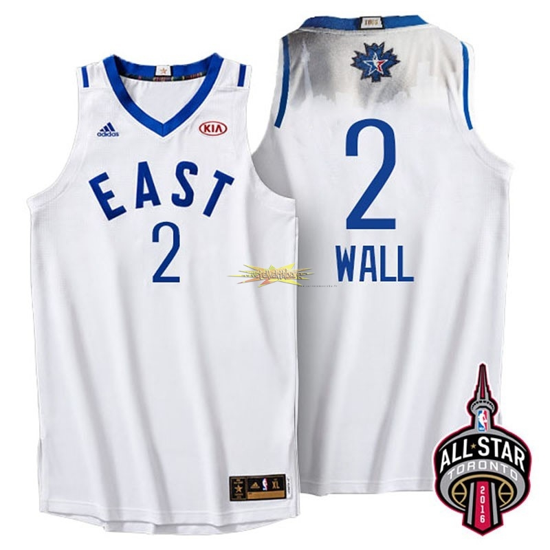Nouveau Maillot NBA 2016 All Star NO.2 John Wall Blanc