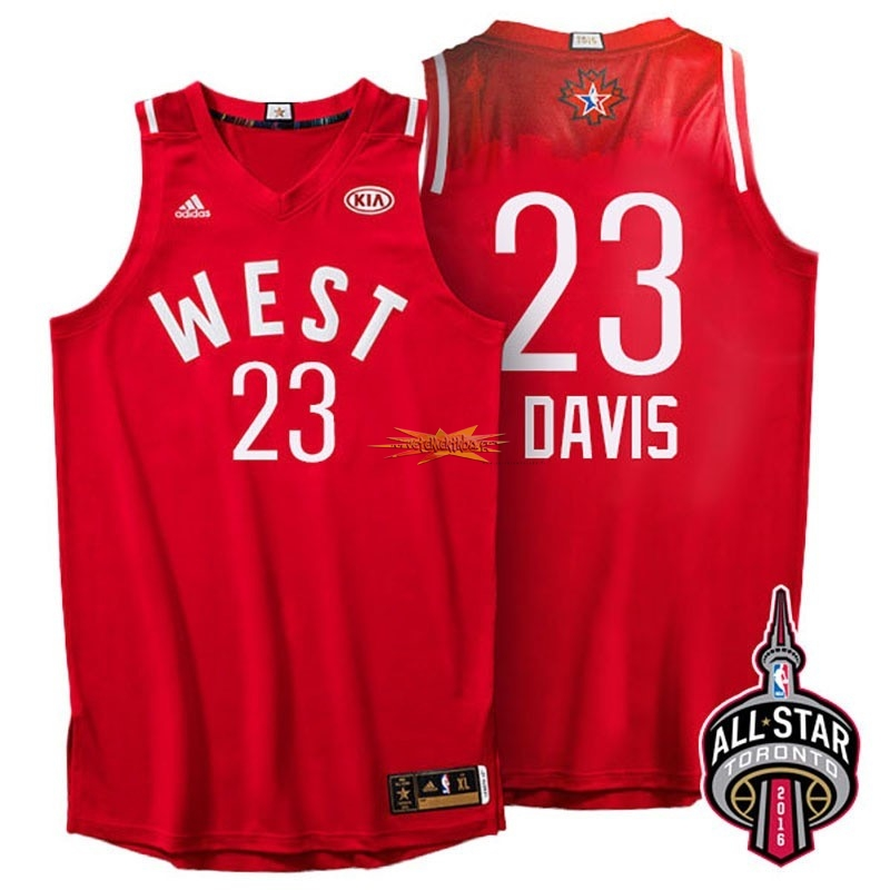 Nouveau Maillot NBA 2016 All Star NO.23 Anthony Davis Rouge