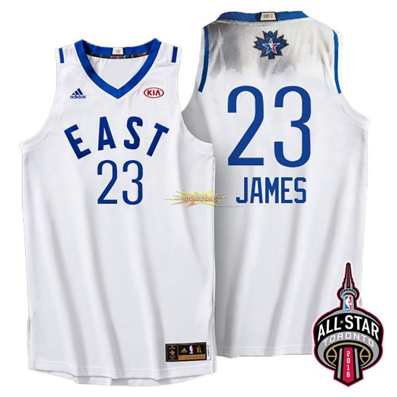 Nouveau Maillot NBA 2016 All Star NO.23 LeBron James Blanc