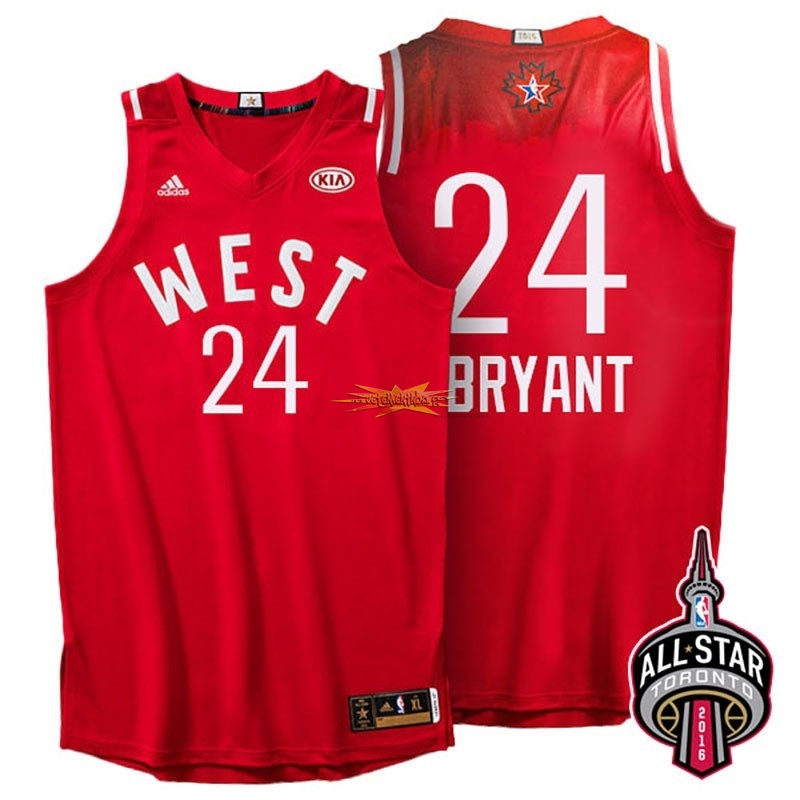 Nouveau Maillot NBA 2016 All Star NO.24 Kobe Bryant Rouge