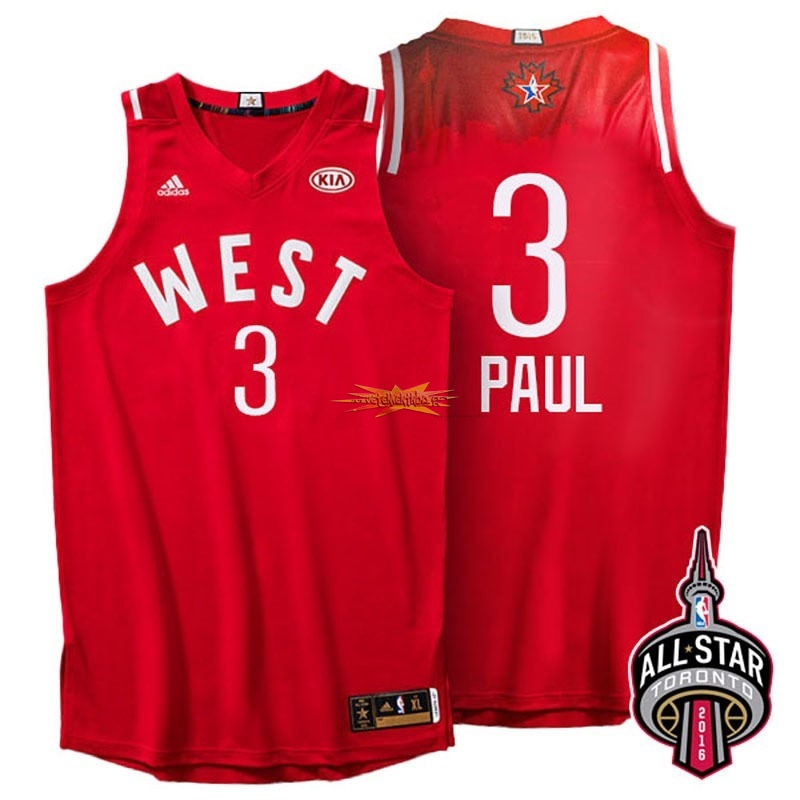 Nouveau Maillot NBA 2016 All Star NO.3 Chris Paul Rouge