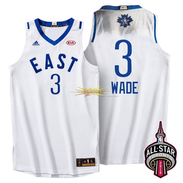 Nouveau Maillot NBA 2016 All Star NO.3 Dwyane Wade Blanc