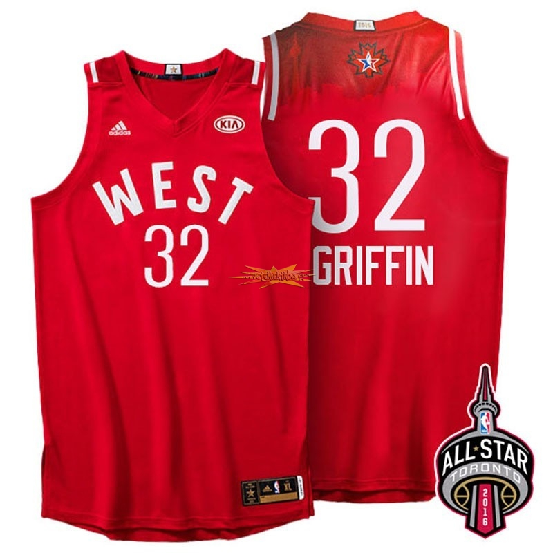 Nouveau Maillot NBA 2016 All Star NO.32 Blake Griffin Rouge