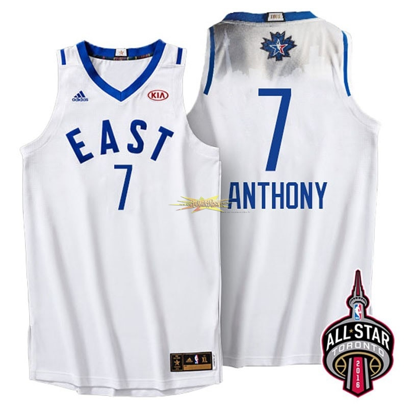 Nouveau Maillot NBA 2016 All Star NO.7 Carmelo Anthony Blanc