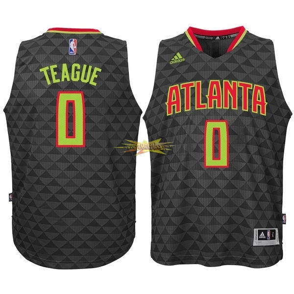 Nouveau Maillot NBA Atlanta Hawks No.0 Jeff Teague Noir
