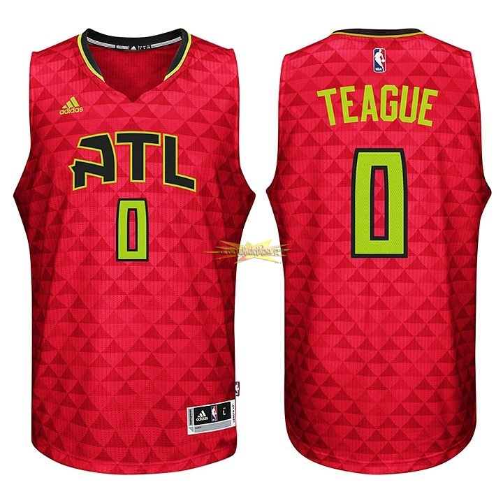 Nouveau Maillot NBA Atlanta Hawks No.0 Jeff Teague Rouge