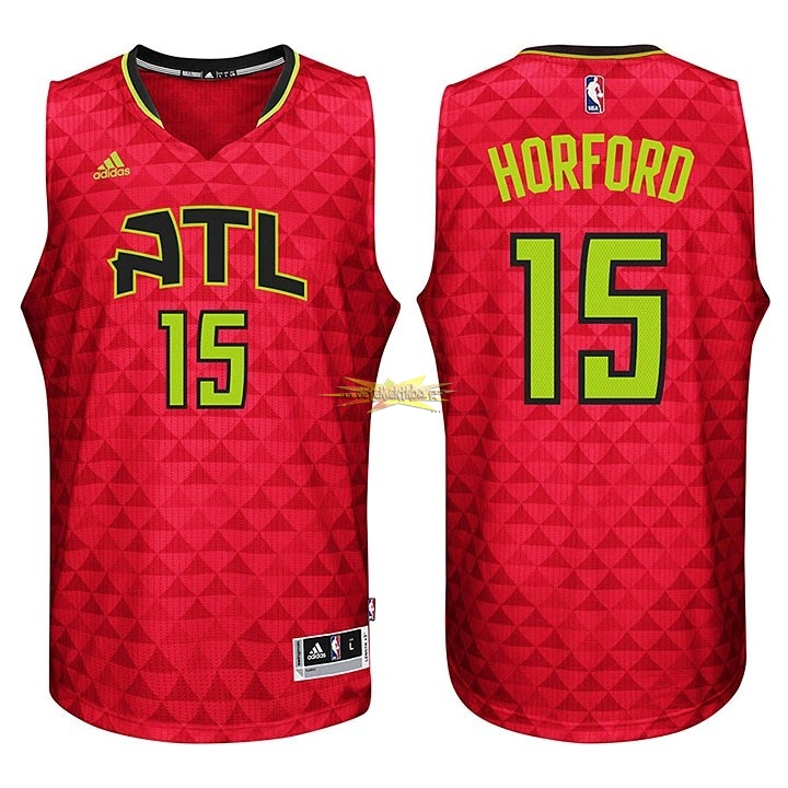 Nouveau Maillot NBA Atlanta Hawks No.15 Al Horford Rouge