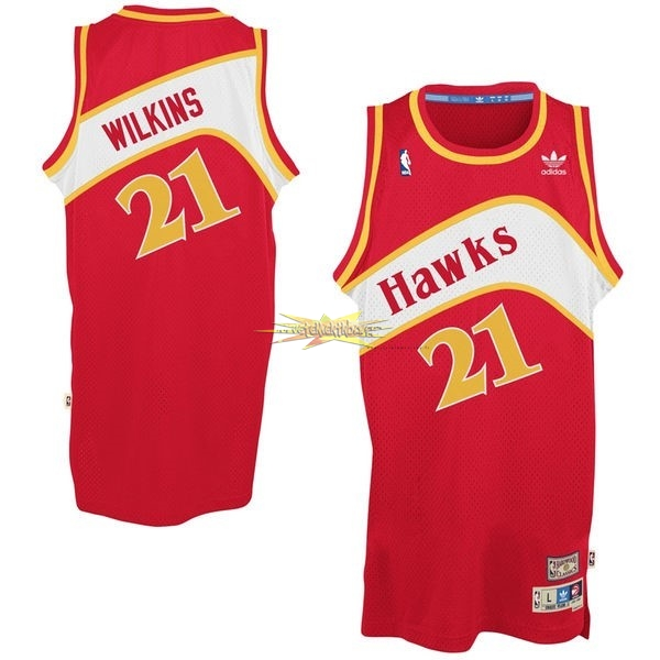 Nouveau Maillot NBA Atlanta Hawks No.21 Dominique Wilkins Rouge