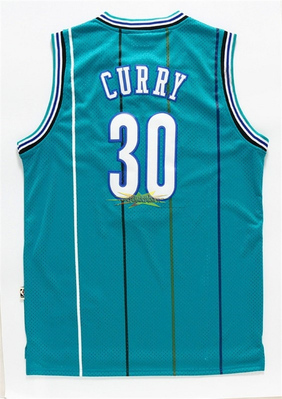 Nouveau Maillot NBA Charlotte Hornets NO.30 Wardell Stephen Curry Vert