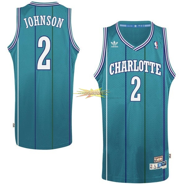 Nouveau Maillot NBA Charlotte Hornets No.2 Larry Demetric Johnson Vert