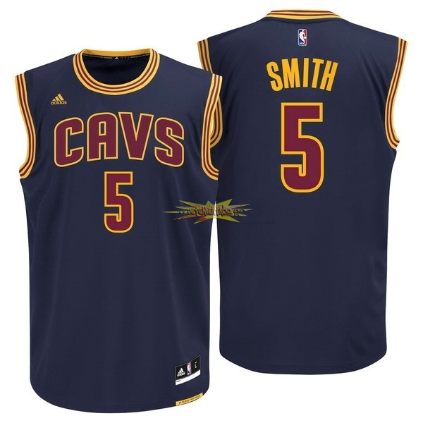 Nouveau Maillot NBA Cleveland Cavaliers NO.5 JR.Smith Bleu