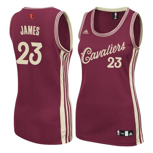Nouveau Maillot NBA Femme 2015-2016 Noël NO.23 LeBron James Rouge