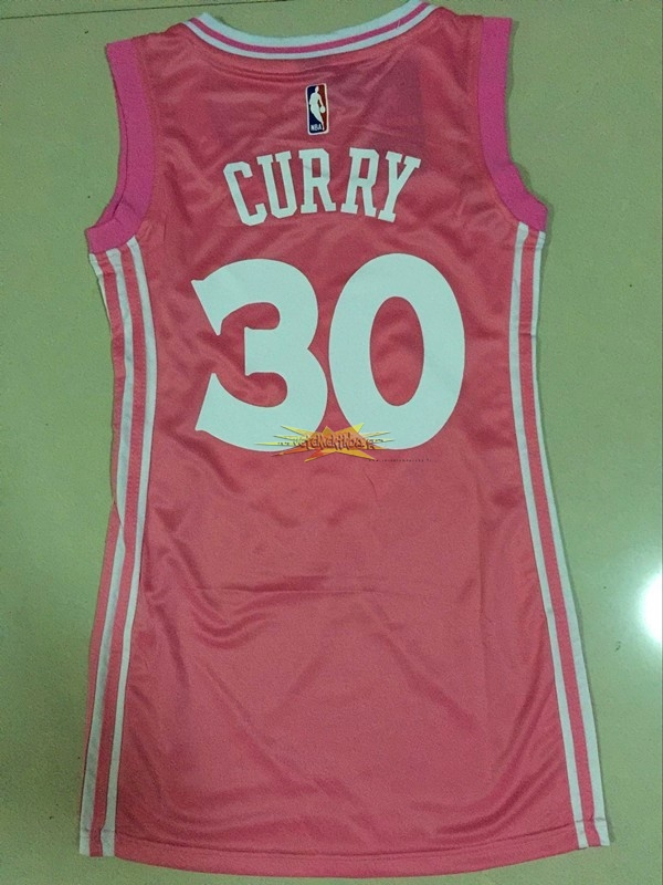 Nouveau Maillot NBA Femme Golden State Warriors NO.30 Stephen Curry Rose