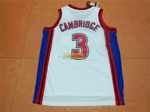 Nouveau Maillot NBA Film Basket-Ball Bel Air Academy NO.3 Cambridge Blanc