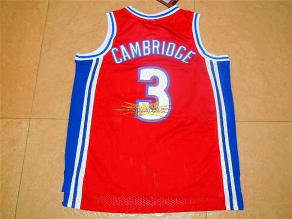 Nouveau Maillot NBA Film Basket-Ball Bel Air Academy NO.3 Cambridge Rouge