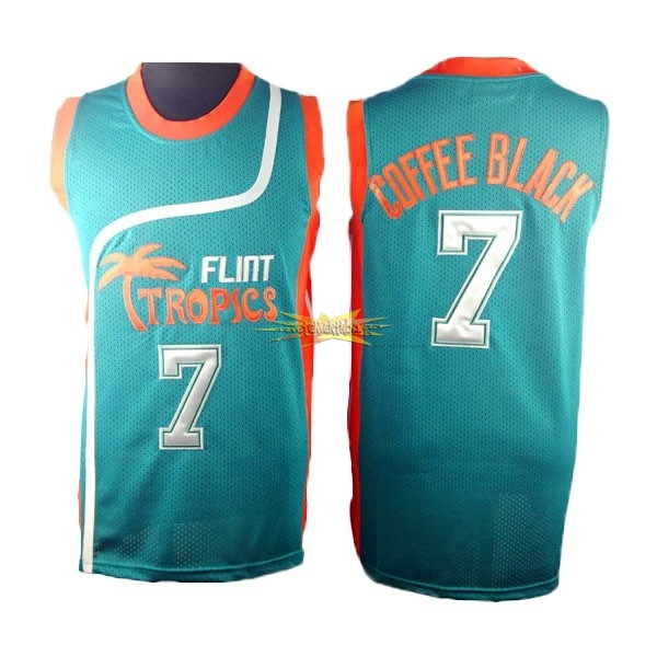 Nouveau Maillot NBA Film Basket-Ball Flint Hill NO.7 Coffee Noir Bleu