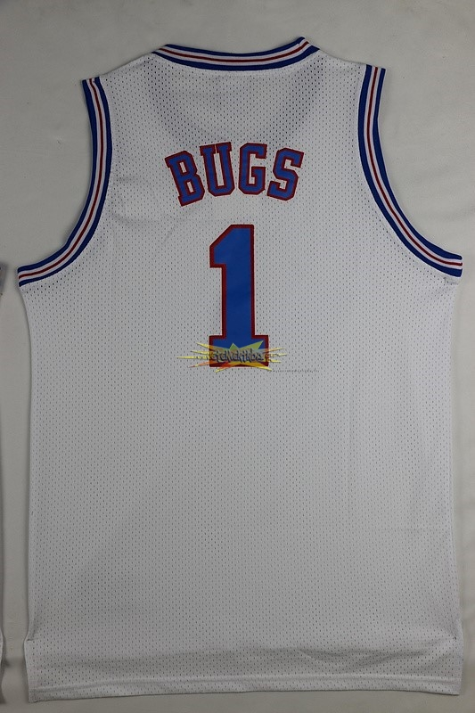 Nouveau Maillot NBA Film Basket-Ball Tune Squad NO.1 Bugs Blanc