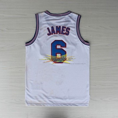 Nouveau Maillot NBA Film Basket-Ball Tune Squad NO.6 James Blanc