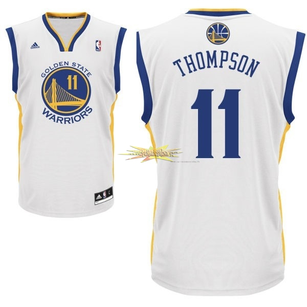 Nouveau Maillot NBA Golden State Warriors NO.11 Klay Thompson Blanc