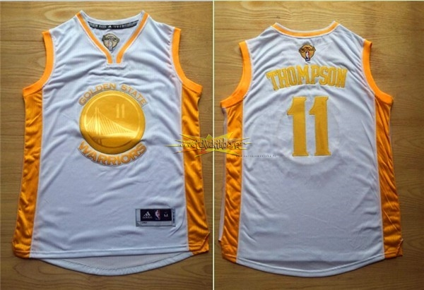 Nouveau Maillot NBA Golden State Warriors NO.11 Klay Thompson Or
