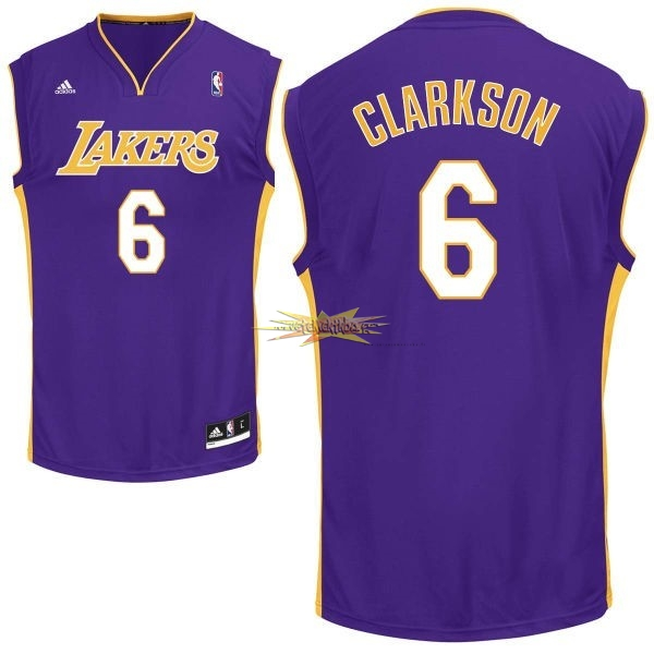 Nouveau Maillot NBA Los Angeles Lakers NO.6 Jordan Clarkson Pourpre