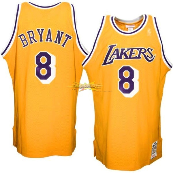 Nouveau Maillot NBA Los Angeles Lakers NO.8 Kobe Bryant Jaune
