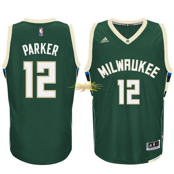 Nouveau Maillot NBA Milwaukee Bucks NO.12 Jabari Parker Vert