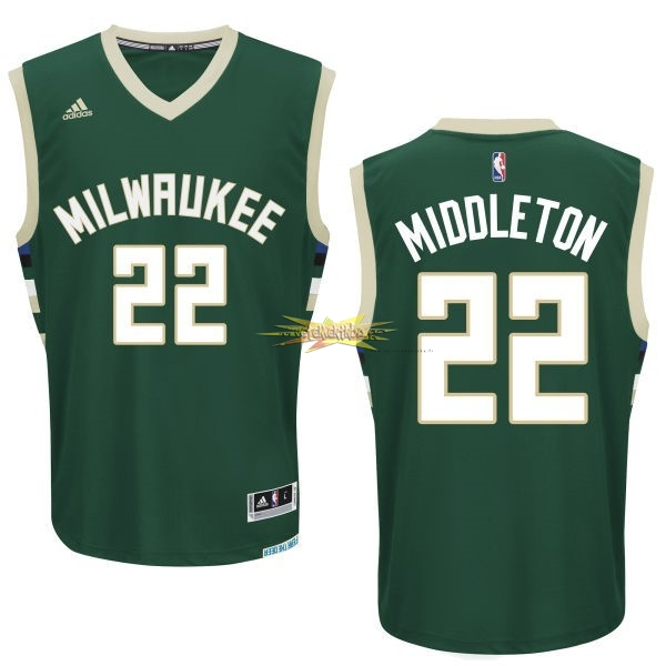 Nouveau Maillot NBA Milwaukee Bucks NO.22 Khris Middleton Vert