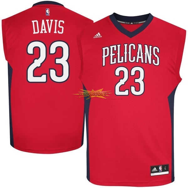 Nouveau Maillot NBA New Orleans Pelicans NO.23 Anthony Davis Rouge