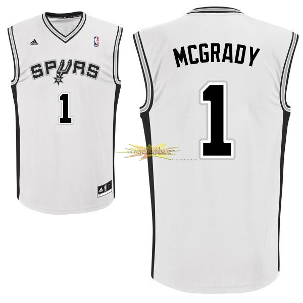 Nouveau Maillot NBA San Antonio Spurs NO.1 Tracy McGrady Blanc