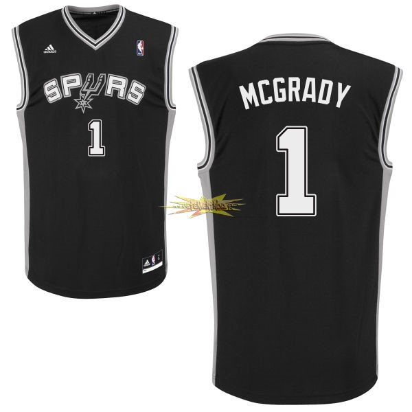 Nouveau Maillot NBA San Antonio Spurs NO.1 Tracy McGrady Noir