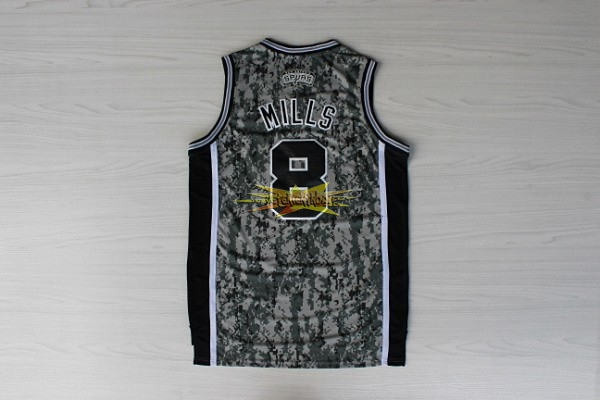 Nouveau Maillot NBA San Antonio Spurs NO.8 Patty Mills Vert