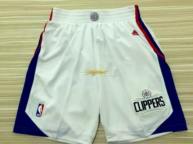 Nouveau Short Basket Los Angeles Clippers Blanc