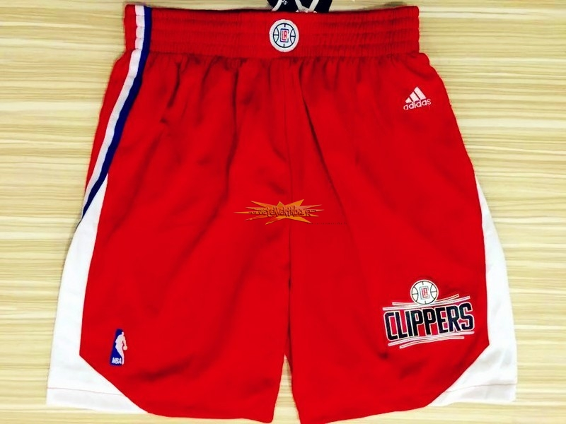 Nouveau Short Basket Los Angeles Clippers Rouge