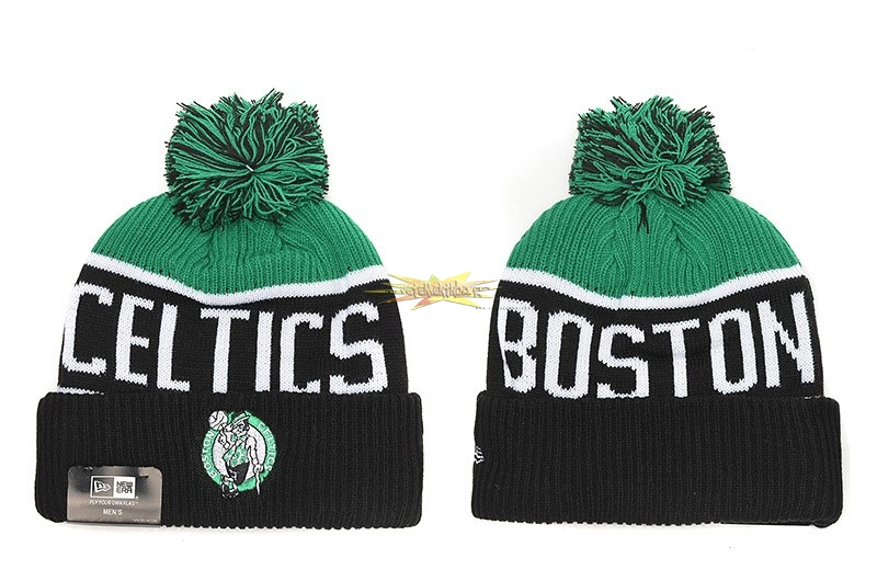 Nouveau Tricoter un Bonnet 2017 Boston Celtics Noir