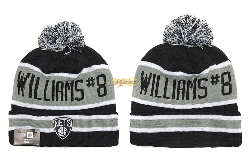 Nouveau Tricoter un Bonnet 2017 Brooklyn Nets Gris NO.01