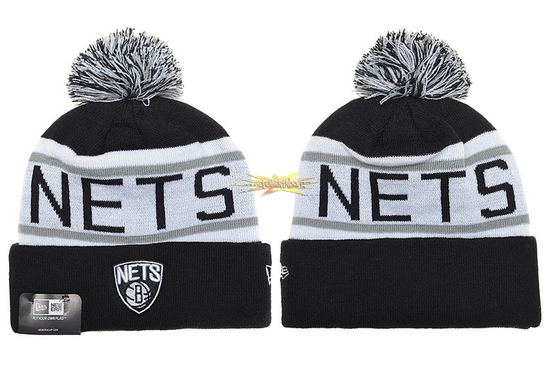 Nouveau Tricoter un Bonnet 2017 Brooklyn Nets Gris NO.02