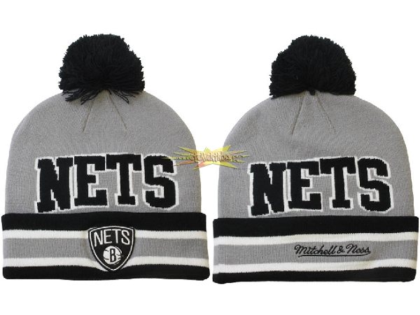 Nouveau Tricoter un Bonnet 2017 Brooklyn Nets Gris NO.04