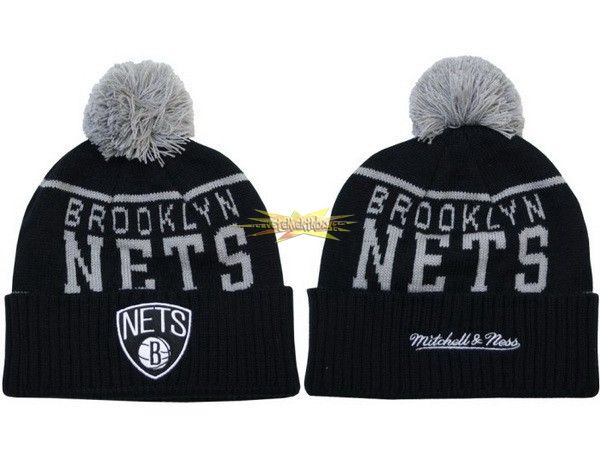 Nouveau Tricoter un Bonnet 2017 Brooklyn Nets Gris NO.06